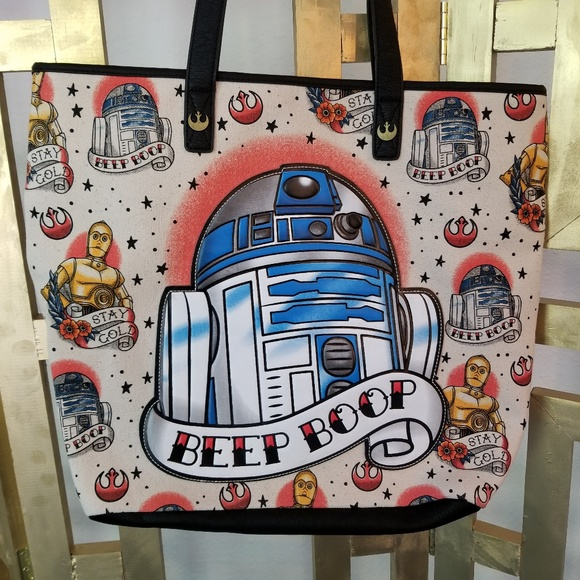 b59a24404a3 Loungefly Handbags - Disney Star Wars Loungefly R2D2 Beep Boop Bag